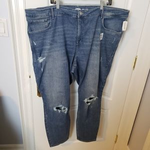NWT plus size Old Navy Rockstar Super Skinny ankle length distressed jeans